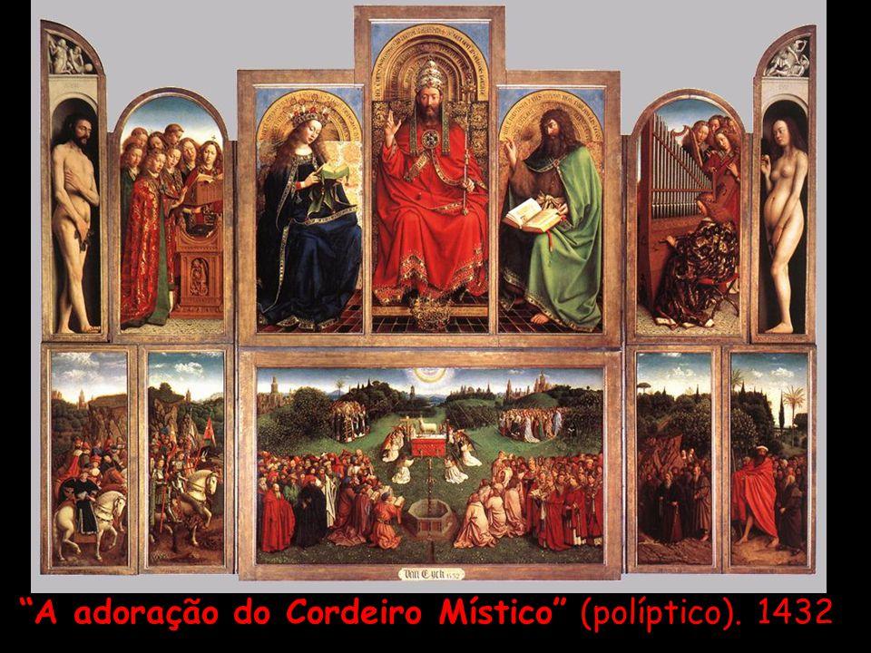 """""""A adoração do Cordeiro Místico"""" (políptico). 1432"""