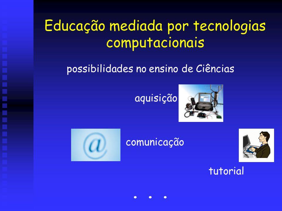 Educação mediada por tecnologias computacionais possibilidades no ensino de Ciências aquisição de dados comunicação tutorial...