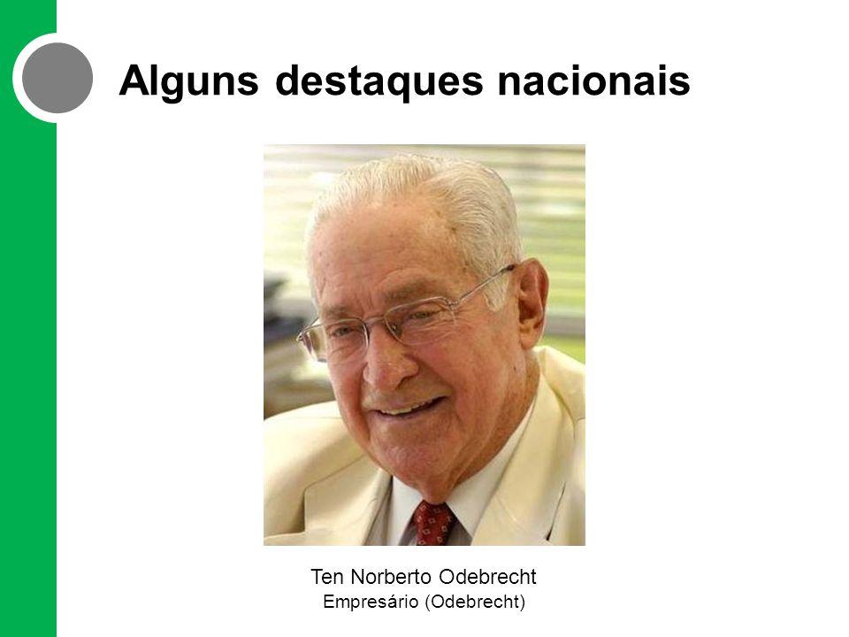 Alguns destaques nacionais Ten Norberto Odebrecht Empresário (Odebrecht)