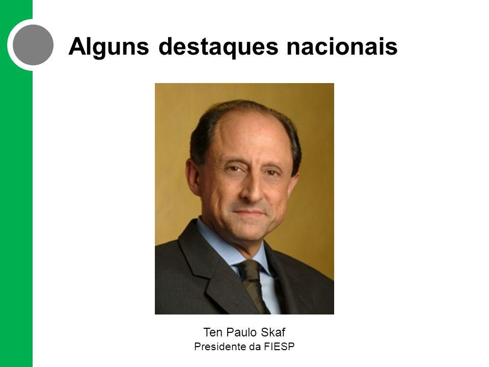 Alguns destaques nacionais Ten Paulo Skaf Presidente da FIESP