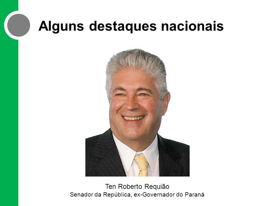 Alguns destaques nacionais Ten Roberto Requião Senador da República, ex-Governador do Paraná