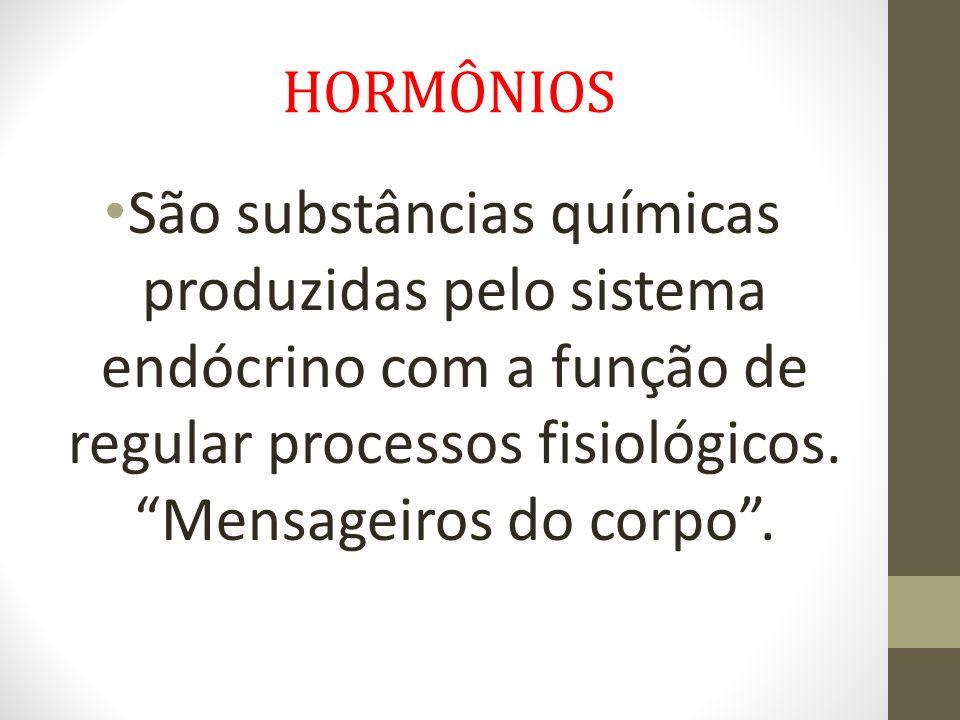 HORMÔNIOS • Um hormônio pode ter origem lipídica ou proteica, ou seja, é formado a partir da síntese de gorduras e proteínas.