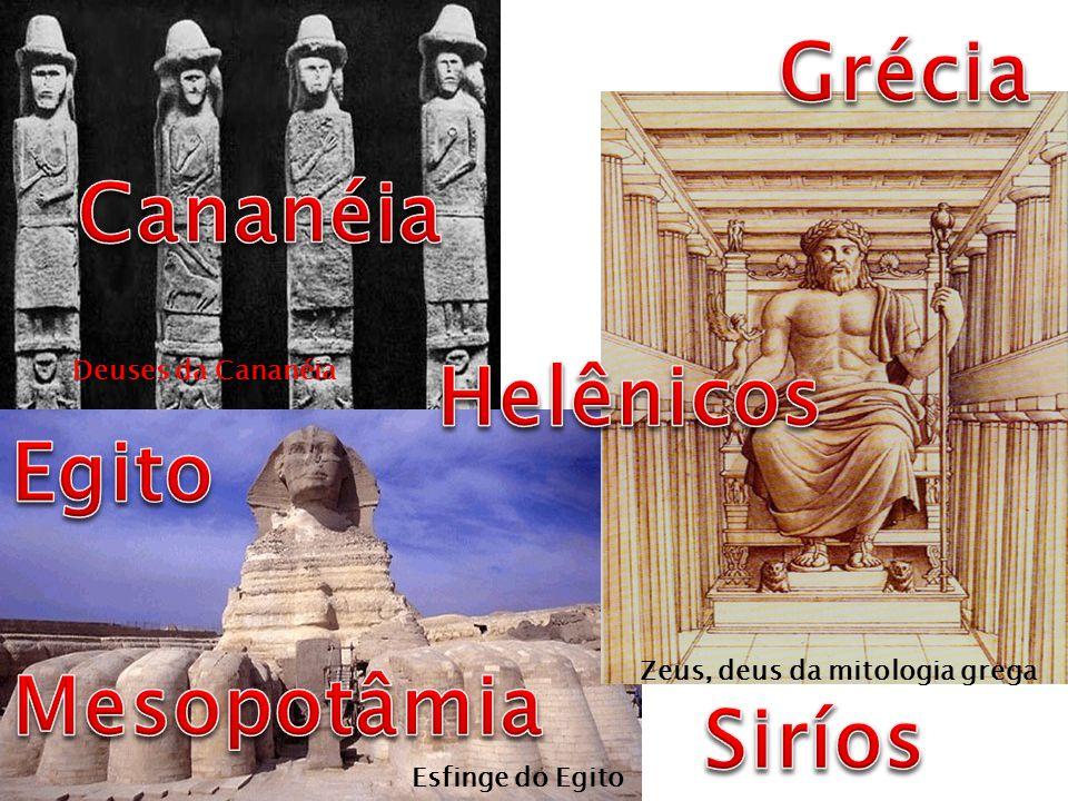 Zeus, deus da mitologia grega Deuses da Cananéia Esfinge do Egito