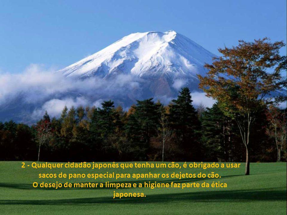 1 - As crianças japonesas limpam as suas escolas todos os dias, por 15 minutos, juntamente com os professores, o que levou ao surgimento de uma geraçã