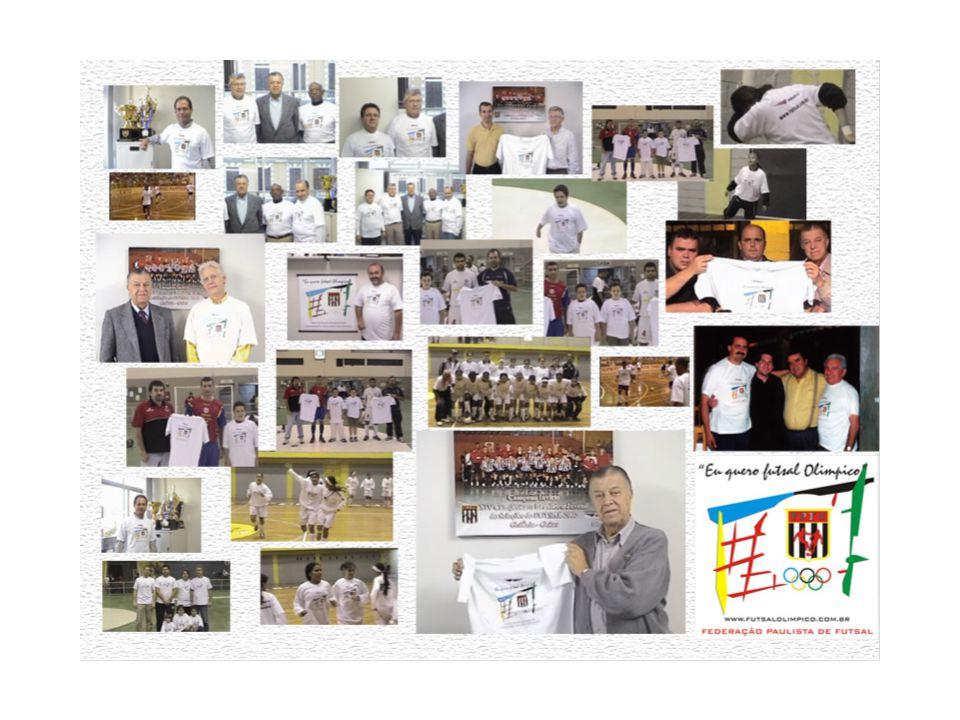 Fonte: COB PROJETO FUTSAL OLÍMPICO: PROGRAMA DE PATROCÍNIO EM SYDNEY 2000 • •11 Patrocinadores : Coca-Cola, Kodak, Xerox, Mc Donald's, Visa, Sema, Swatch, John Hancock, Panasonic, Samsung, Sports Illustrated Programa de Patrocínio TOP V (2001 – 2004) Evolução do Programa TOP