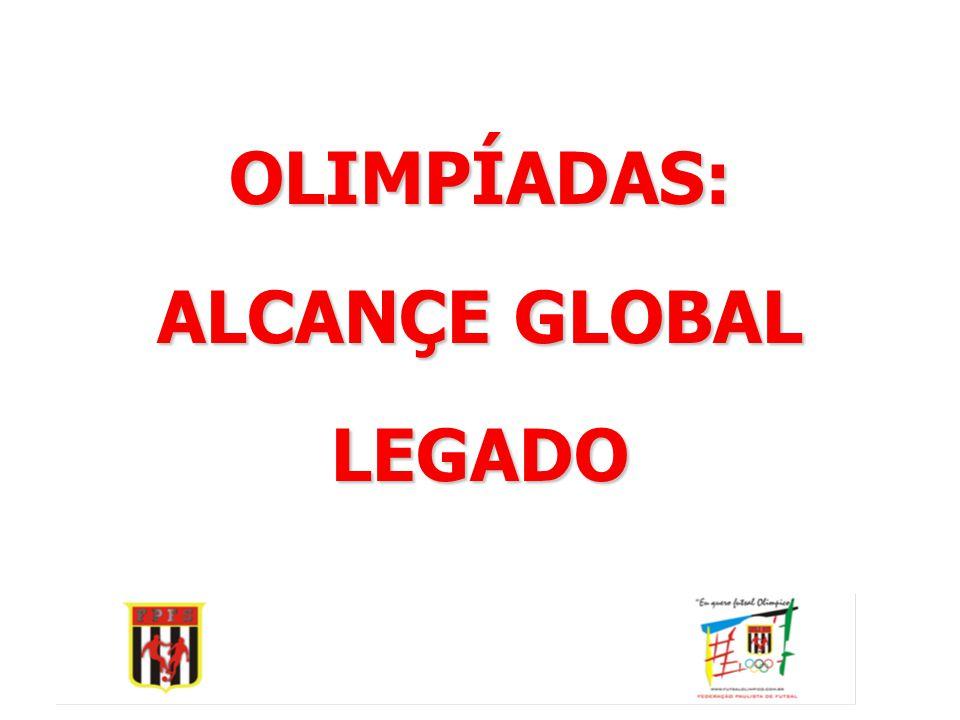 • •Slogan: Eu quero Futsal Olímpico • •Logomarca:   Desenho simboliza e identifica graficamente a campanha;   Explora as cores oficiais do símbolo olímpico;   Desenho estilizado de uma trave de Futsal, com o distintivo oficial da Federação Paulista de Futebol de Salão, lider da campanha.