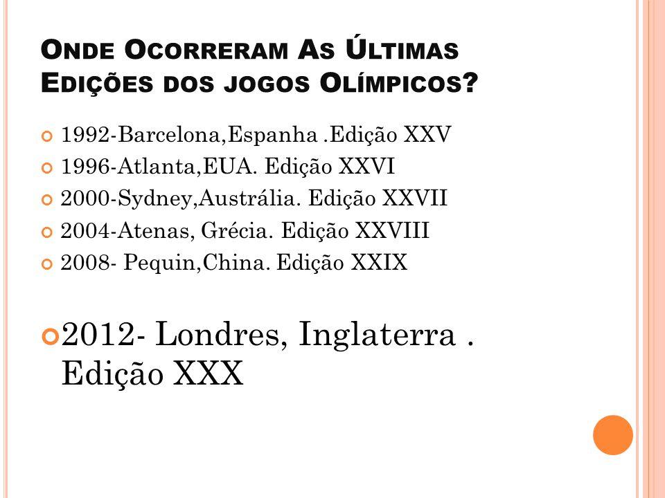 O Q UE S ÃO J OGOS O LÍMPICOS ? Os Jogos Olímpicos são um grande evento internacional, com esportes de verão e de inverno, em que milhares de atletas