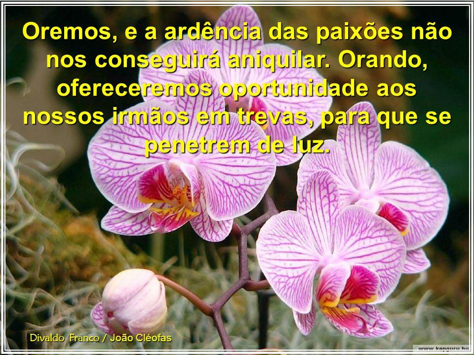 Divaldo Franco / João Cléofas Oremos, infatigavelmente, e não seremos surpreendidos pela frialdade das lutas anestesiantes.