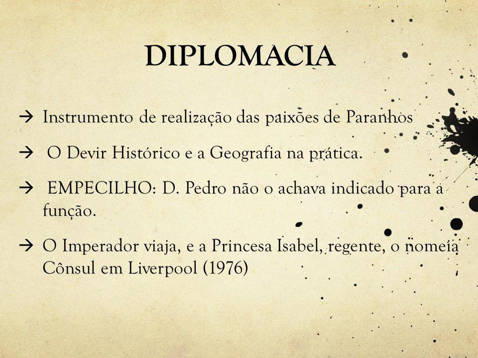 DIPLOMACIA  Instrumento de realização das paixões de Paranhos  O Devir Histórico e a Geografia na prática.