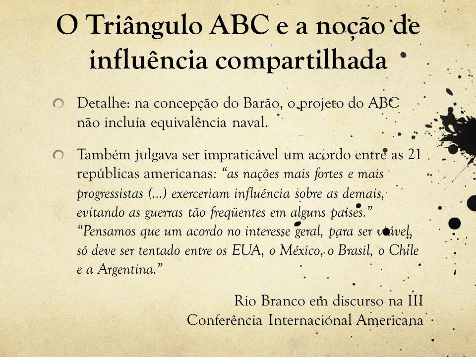 Detalhe: na concepção do Barão, o projeto do ABC não incluía equivalência naval.