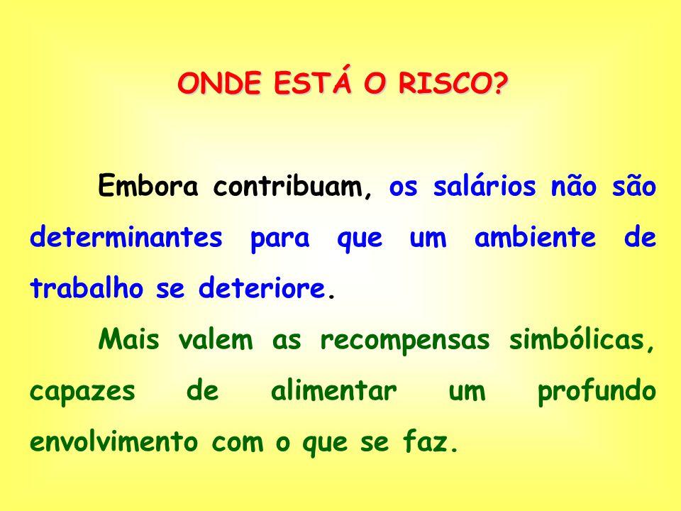 ONDE ESTÁ O RISCO.