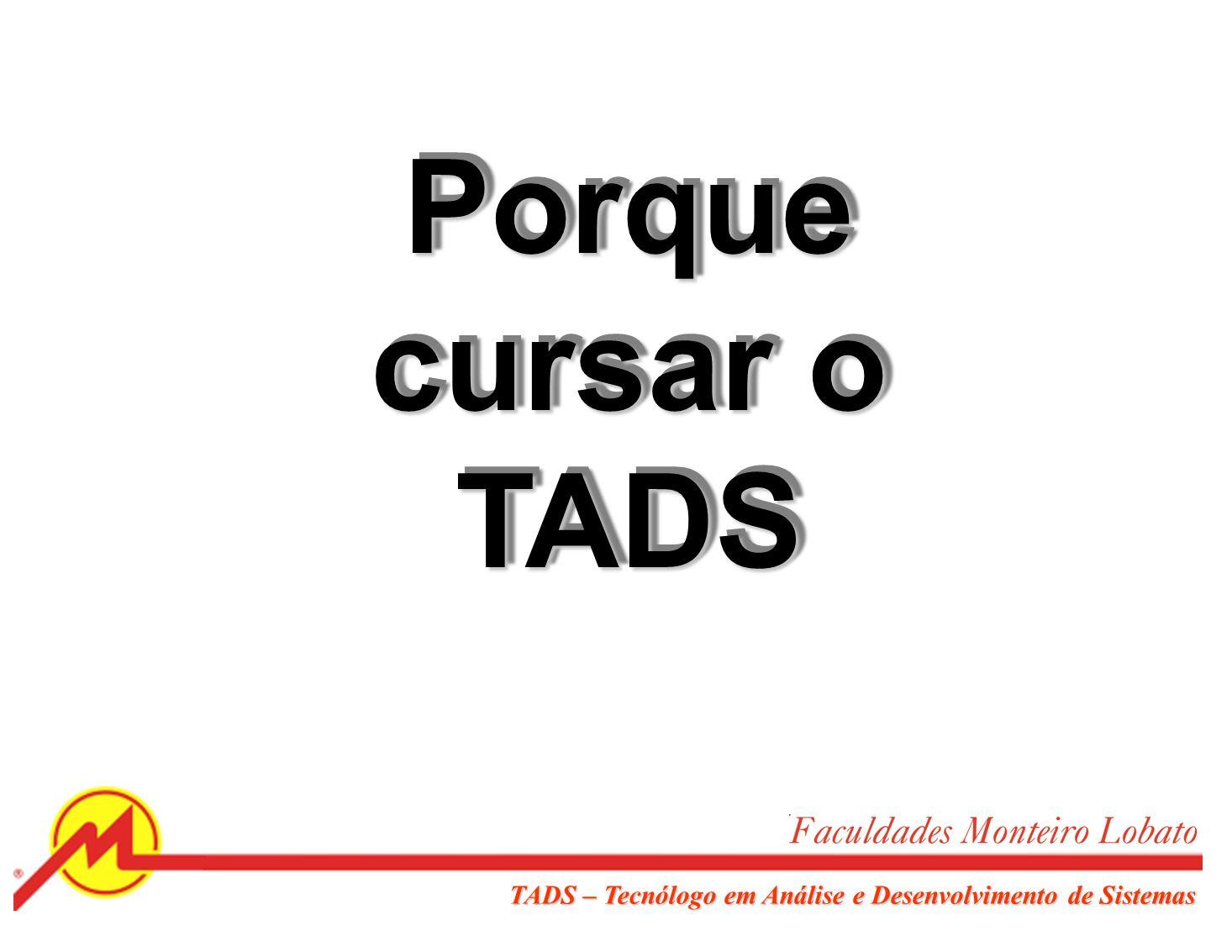 Sociedade Educacional Monteiro Lobato TADS – Tecnólogo em Análise e Desenvolvimento de Sistemas EJAEnsino MédioFATO GraduaçãoPós-Graduação AdmCCTADSGA