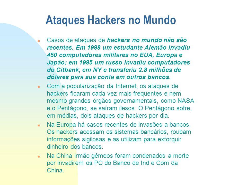 Criminalidade informática Evolução n Recente Pesquisa da Transactional Records Acess Clearinghouse mostra o crescimento dos crimes na Internet. O Estu