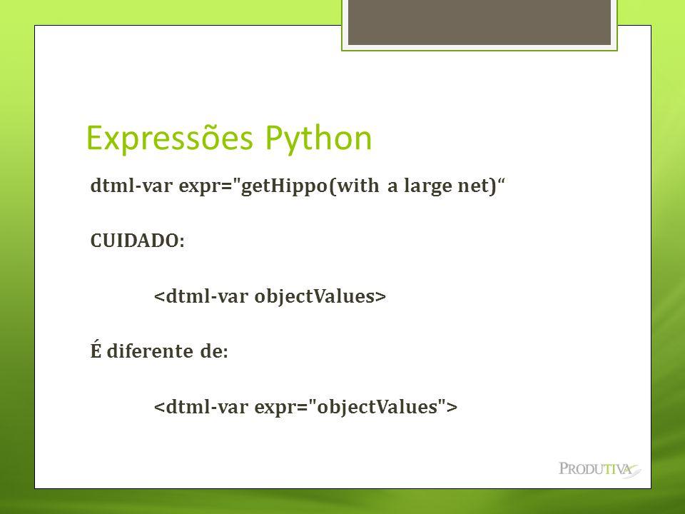 Expressões Python dtml-var expr=