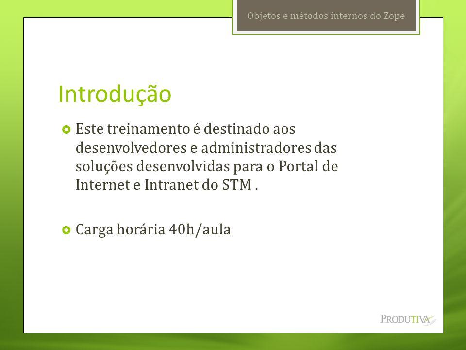 Capítulo 01  ZMI  Arquitetura inicial do ZOPE  Área de trabalho  Usuários  Importando e exportando objetos ZOPE/PLONE