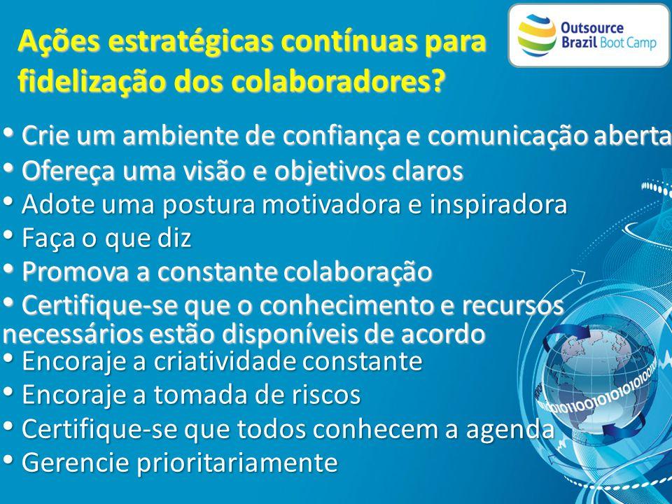 Ações estratégicas contínuas para internacionalização da empresa.