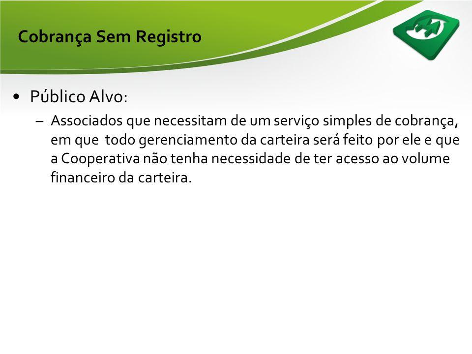 Formato da apresentação •Modalidade Sem Registro: •Público Alvo; •Formas de utilização; •Fluxo do processo; •Vantagens e Desvantagens; •Gerenciamento