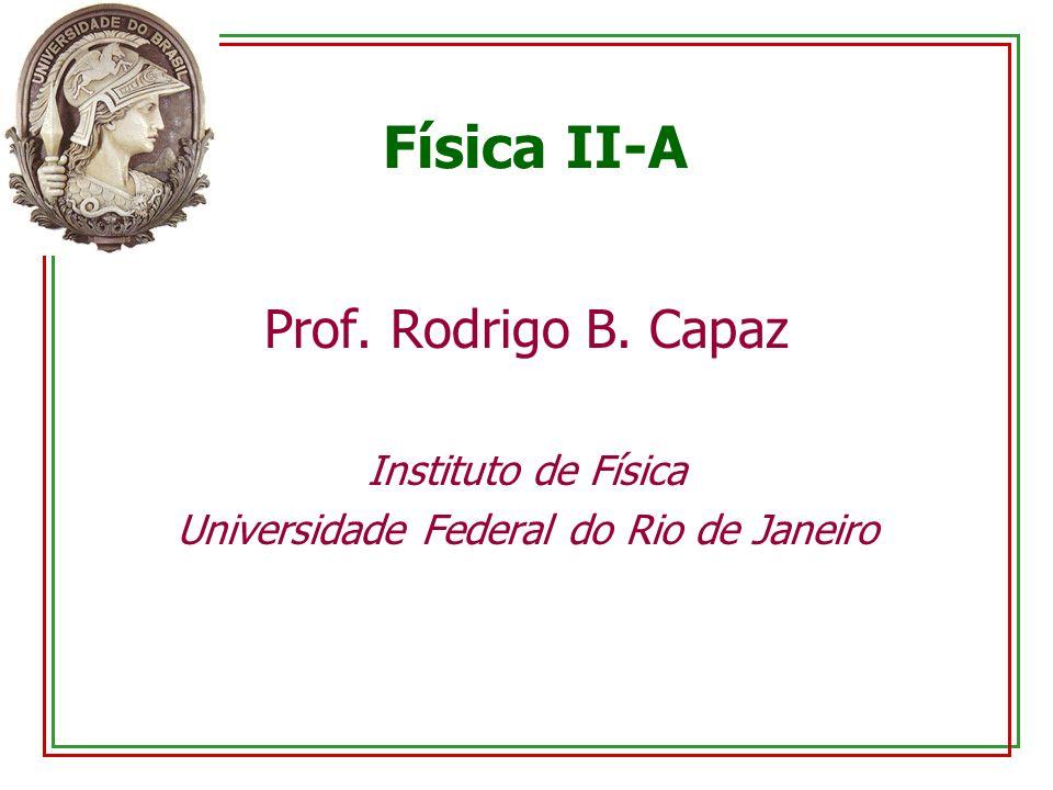 Física II-A Prof. Rodrigo B. Capaz Instituto de Física Universidade Federal do Rio de Janeiro