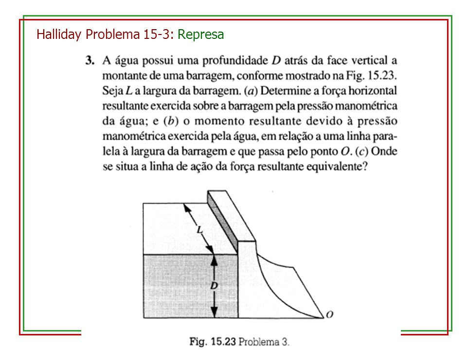Halliday Problema 15-3: Represa