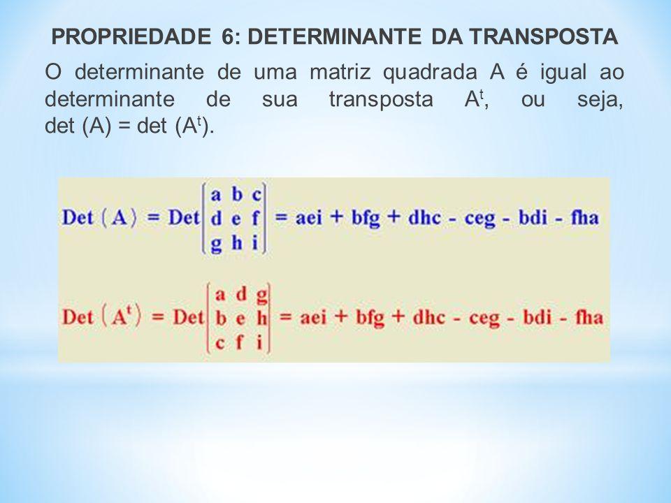 REGRA PRÁTICA DE CHIÓ Trata-se de um método prático que utilizamos para reduzir a ordem de uma matriz quadrada, sem alterar o valor de seu determinante.