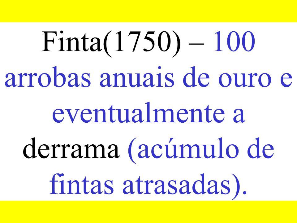Capitação(1735-1750) – 17 g. de ouro por escravo.
