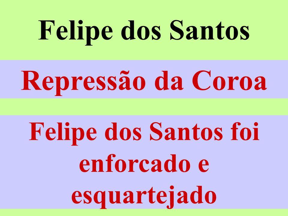 Felipe dos Santos Vila Rica -MG – 1720 Mineradores X Coroa Casas de Fundição
