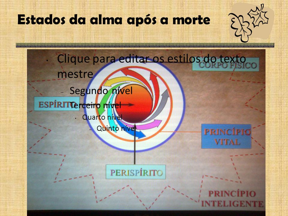 Estados da alma após a morte  Espírito e alma – processo evolutivo O Livro dos Espíritos Q.