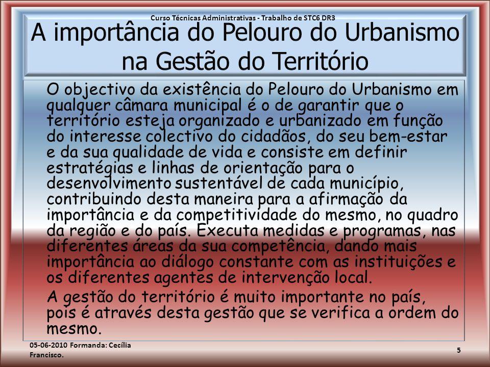 O objectivo da existência do Pelouro do Urbanismo em qualquer câmara municipal é o de garantir que o território esteja organizado e urbanizado em funç