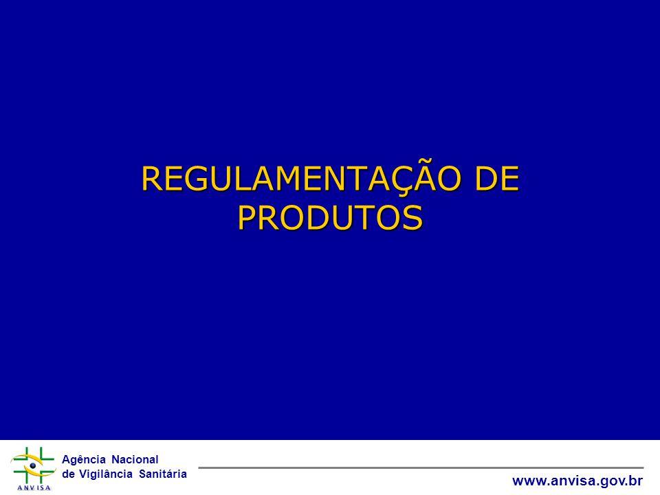 Agência Nacional de Vigilância Sanitária www.anvisa.gov.br REGULAMENTAÇÃO DE PRODUTOS