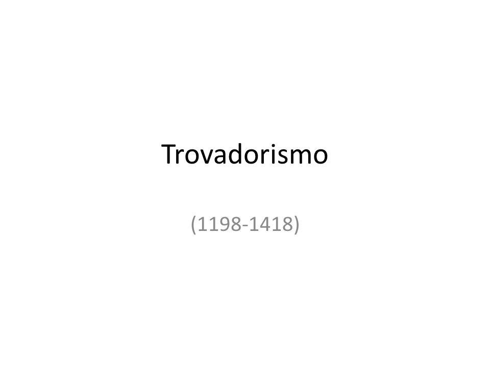 Trovadorismo • Nas primeiras décadas desse período, Portugal estava em guerra para reconquistar o território português que fora tomado pelos mouros.