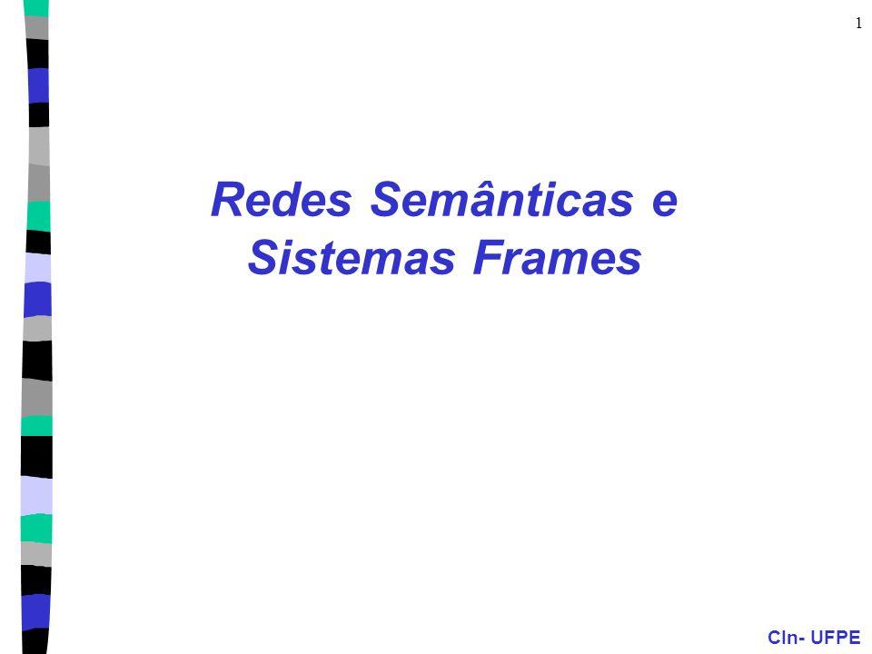 CIn- UFPE 1 Redes Semânticas e Sistemas Frames