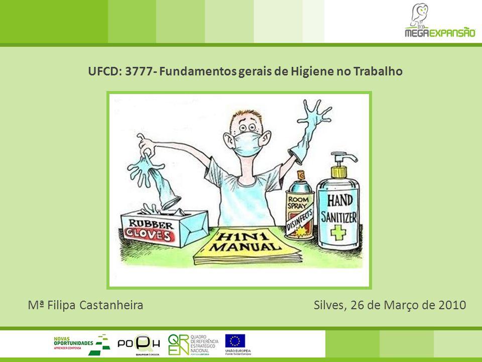 Mª Filipa CastanheiraSilves, 26 de Março de 2010 UFCD: 3777- Fundamentos gerais de Higiene no Trabalho