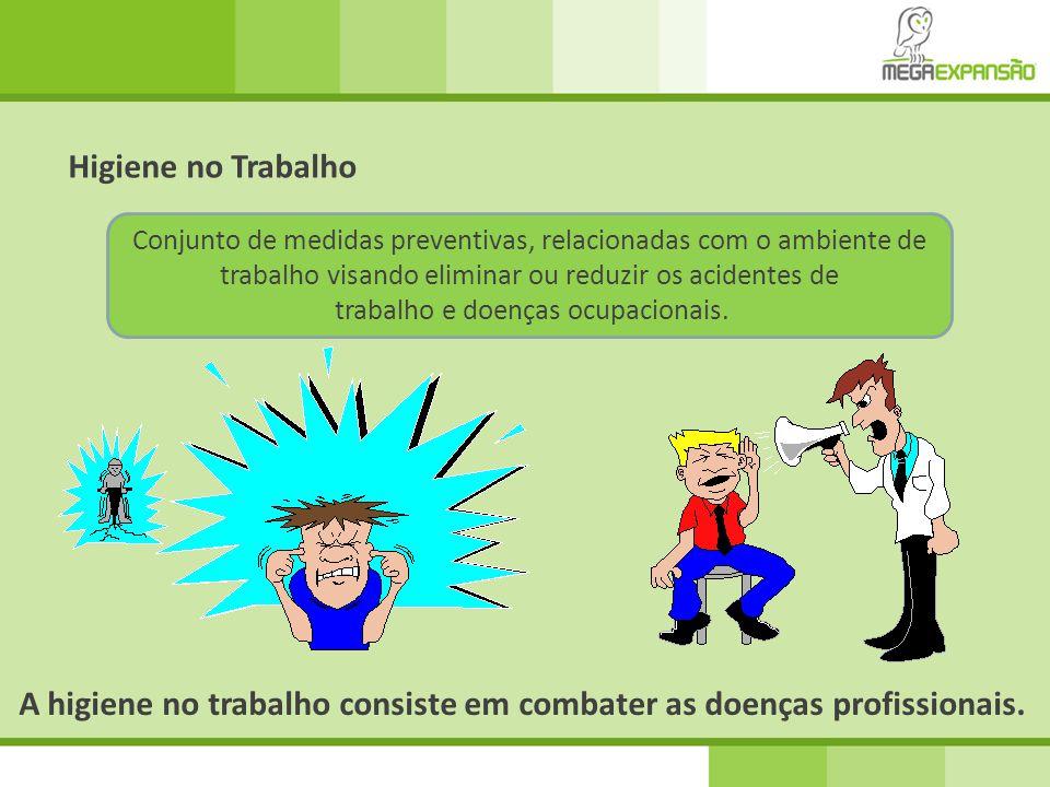 Conjunto de medidas preventivas, relacionadas com o ambiente de trabalho visando eliminar ou reduzir os acidentes de trabalho e doenças ocupacionais.