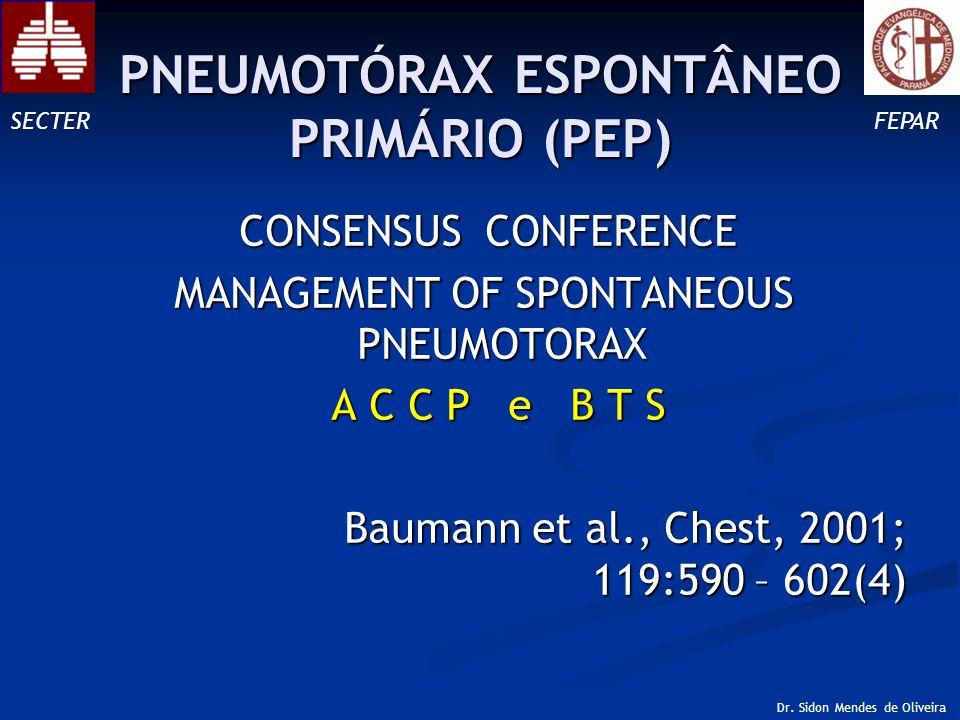 CLASSIFICAÇÃO QUANTO AO TAMANHO (PEP) SECTERFEPAR Dr. Sidon Mendes de Oliveira