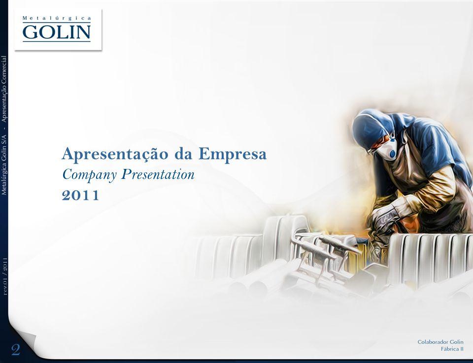 rev.01 / 2011 Apresentação da Empresa Company Presentation 2011 2