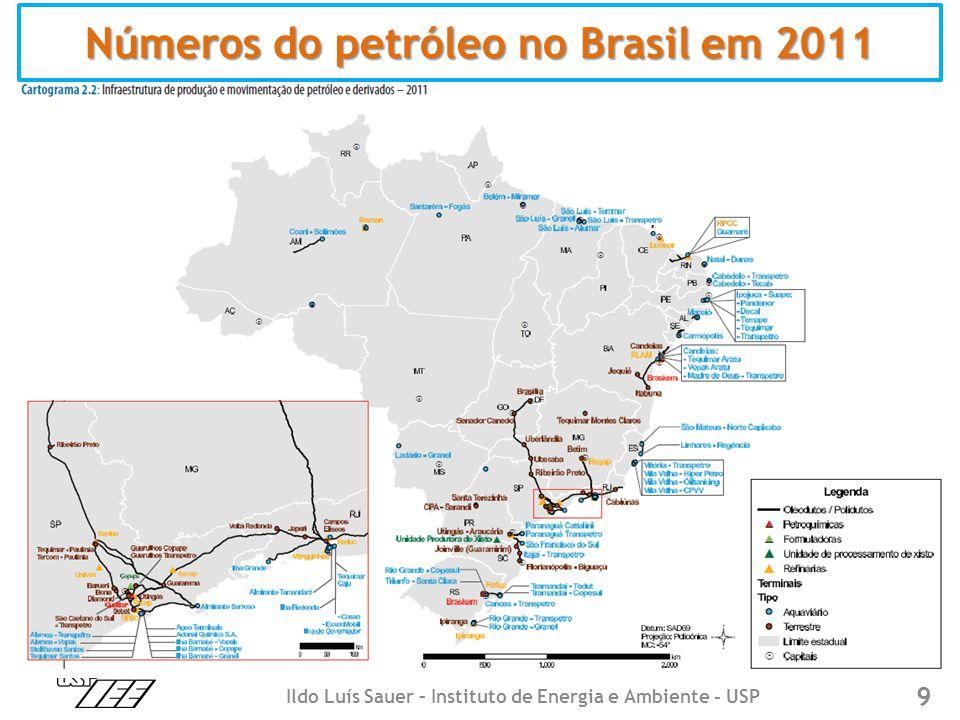 9 Números do petróleo no Brasil em 2011 Ildo Luís Sauer – Instituto de Energia e Ambiente - USP