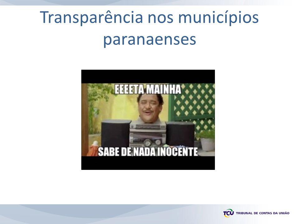 Transparência nos municípios paranaenses