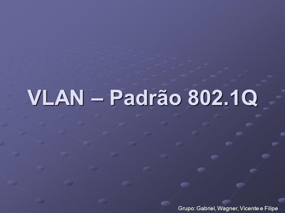 VLAN – Padrão 802.1Q Grupo: Gabriel, Wagner, Vicente e Filipe