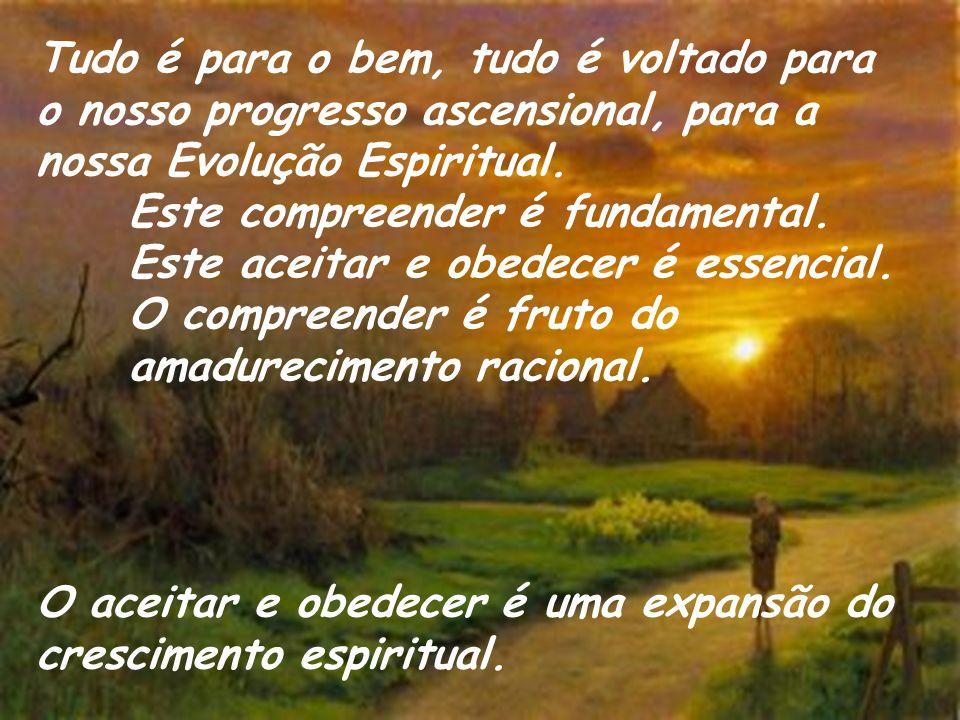 Tudo é para o bem, tudo é voltado para o nosso progresso ascensional, para a nossa Evolução Espiritual.