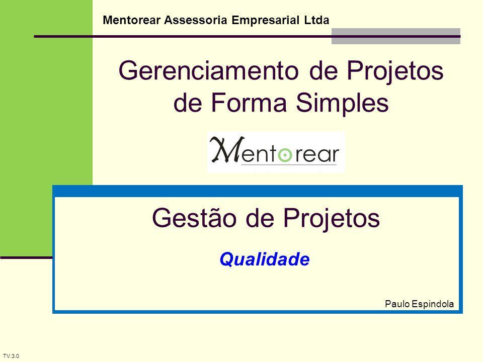 Gerenciamento de Projetos de Forma Simples Mentorear Assessoria Empresarial Ltda Gestão de Projetos Paulo Espindola TV.3.0 Qualidade