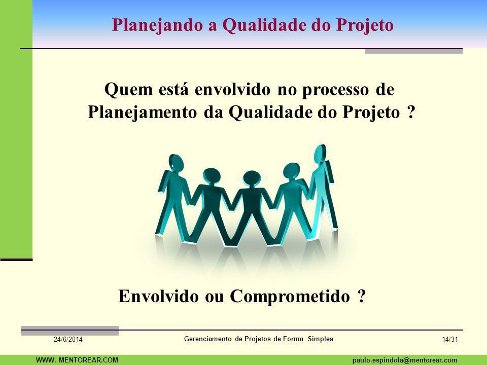 SAP Paulo Espindola 19 11 1960 paulo.espindola@mentorear.comWWW. MENTOREAR.COM Gerenciamento de Projetos de Forma Simples 24/6/2014 13/31 Melhoria Con