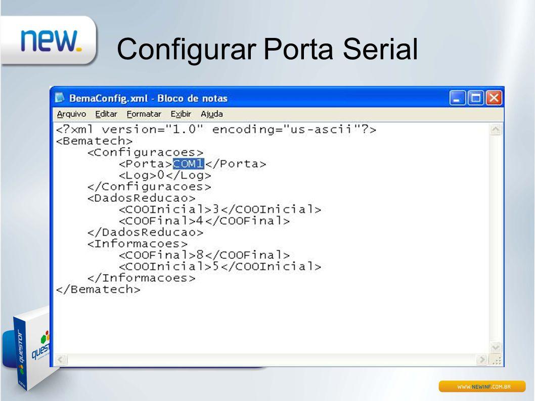 Configurar Porta Serial
