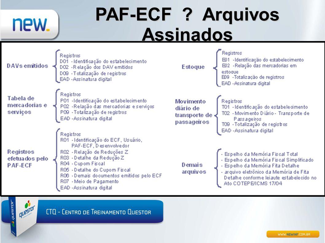 PAF-ECF ? Arquivos Assinados