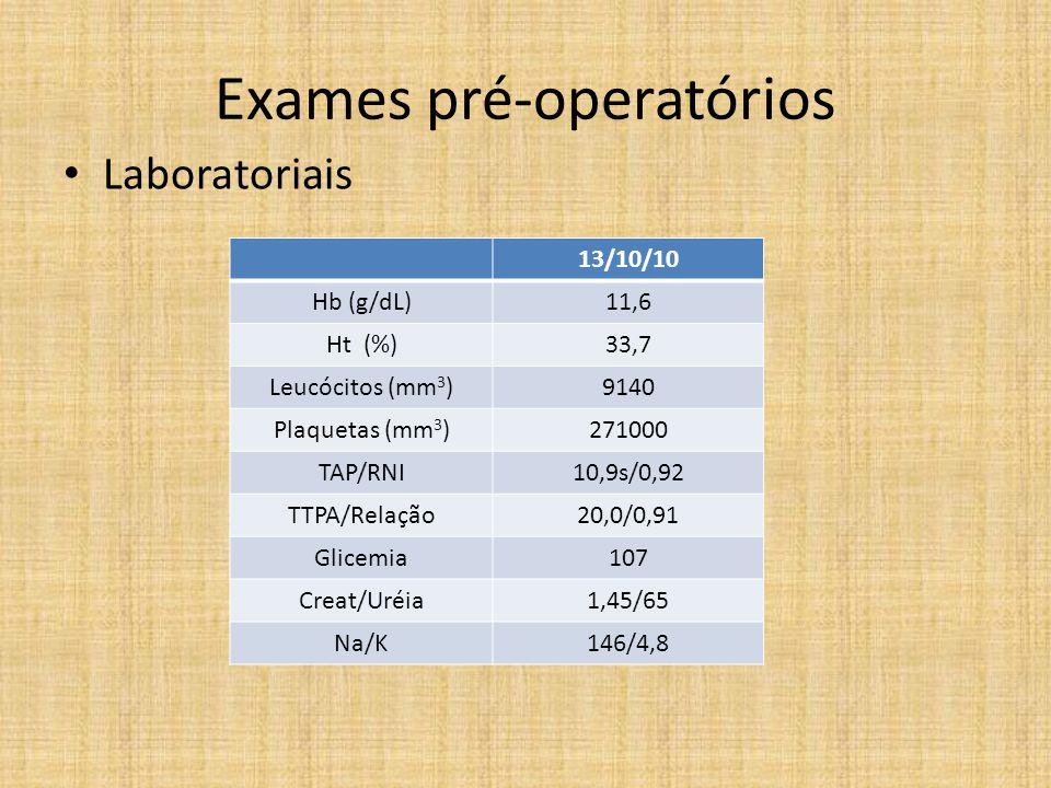 Trans-operatório • Sala de bloqueio – PVP MSE abocath 20G – Midazolam 2mg – Fentanil 50mcg – Bloqueio n.