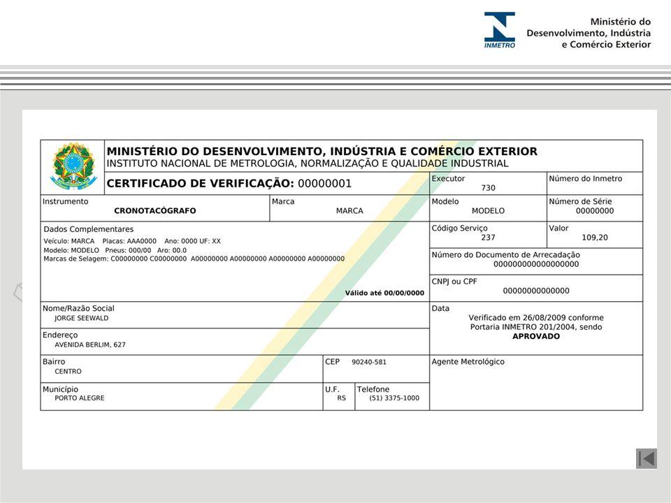 Certificado de Verificação