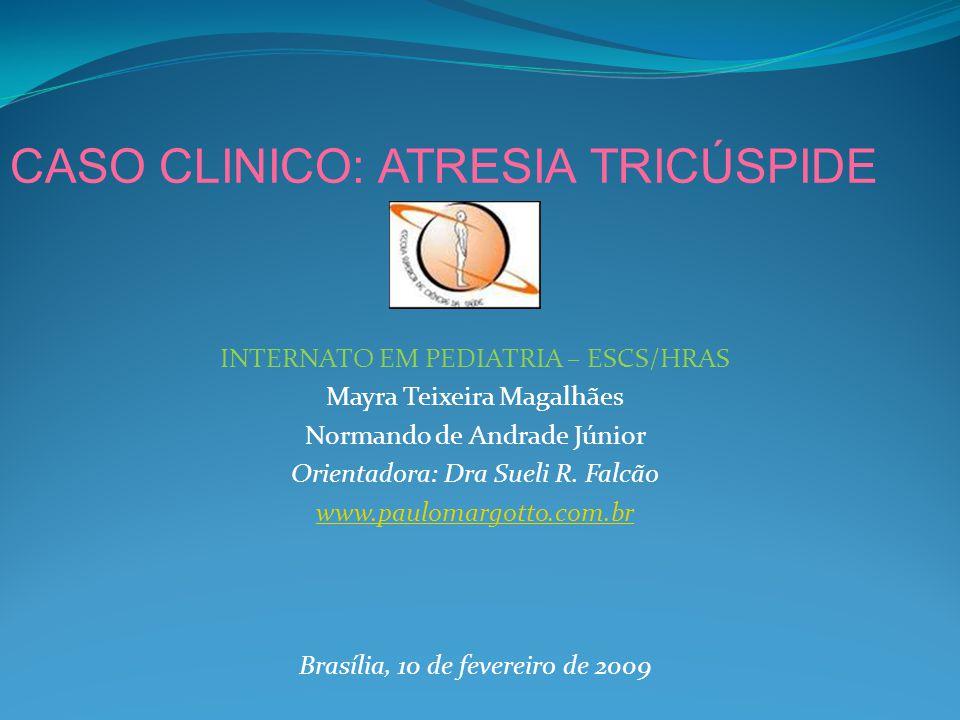 INTERNATO EM PEDIATRIA – ESCS/HRAS Mayra Teixeira Magalhães Normando de Andrade Júnior Orientadora: Dra Sueli R.