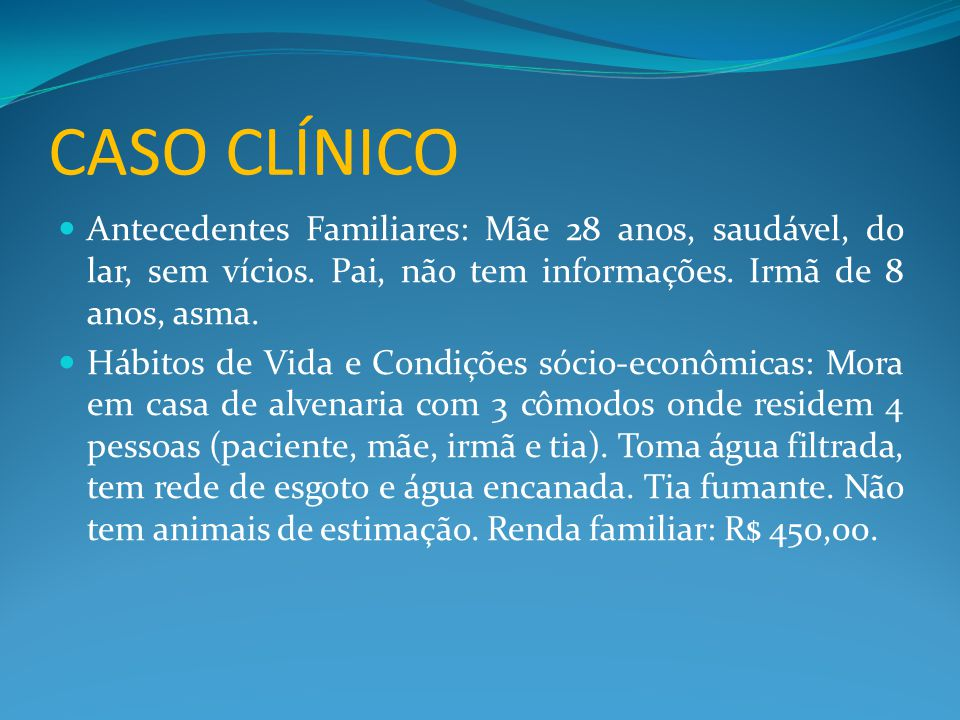 CASO CLÍNICO ÚLTIMO ECOCARDIOGRAMA (04/02/09):  Situs solitus em levocardia com concordância veno- atrial.