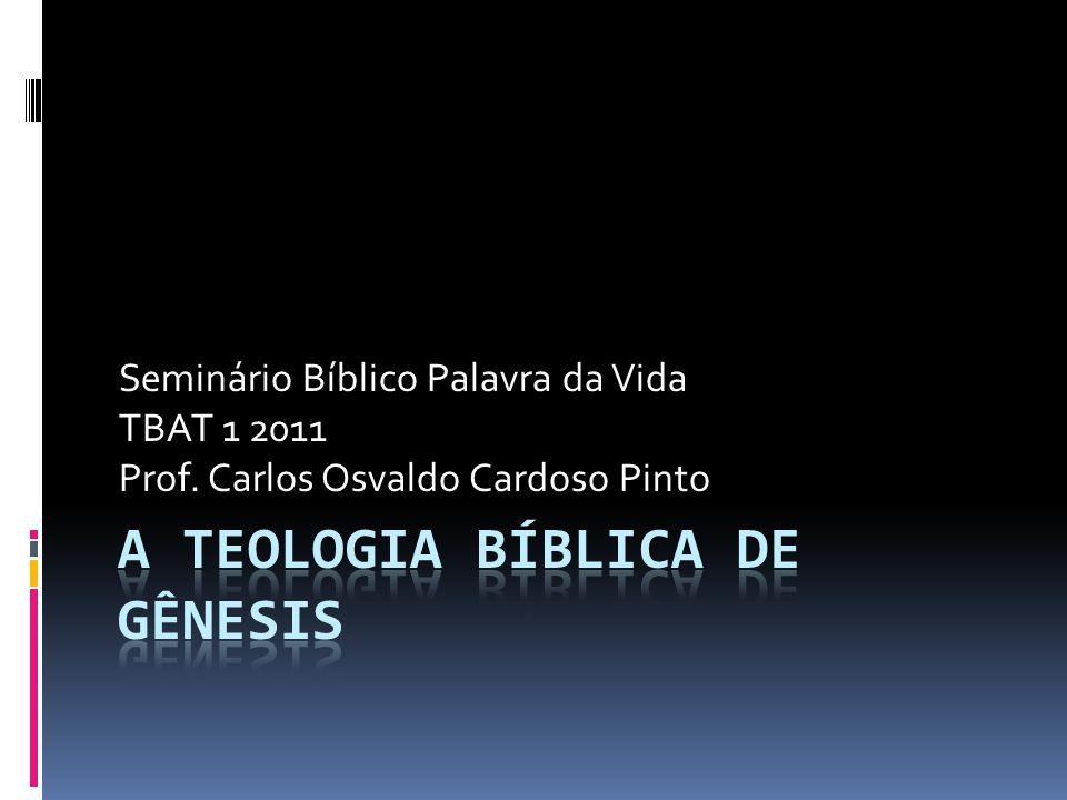 Seminário Bíblico Palavra da Vida TBAT 1 2011 Prof. Carlos Osvaldo Cardoso Pinto