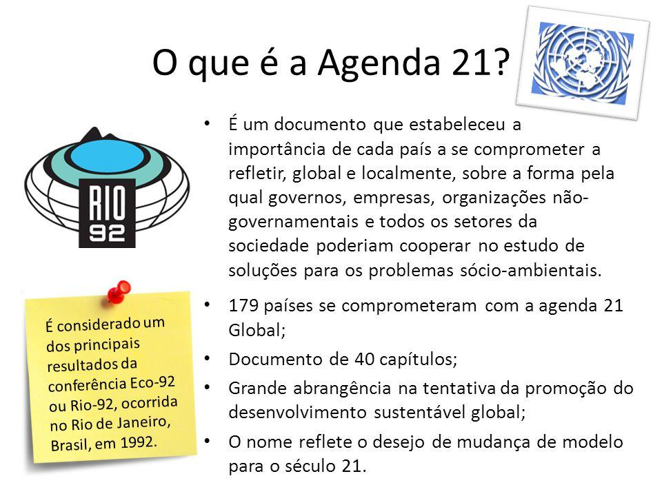 O que é a Agenda 21.