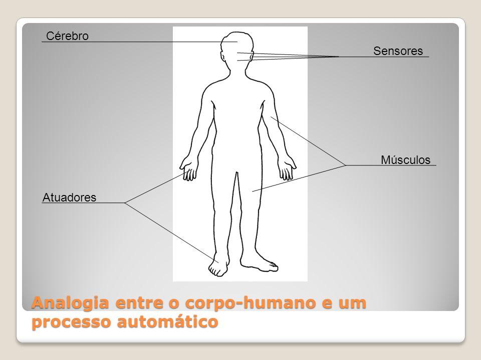 Analogia entre o corpo-humano e um processo automático Atuadores Cérebro Sensores Músculos